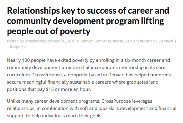 Relationships key to success of career and community development program lifting people out of poverty